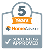 5 years HomeAdvisor Screened & Approved
